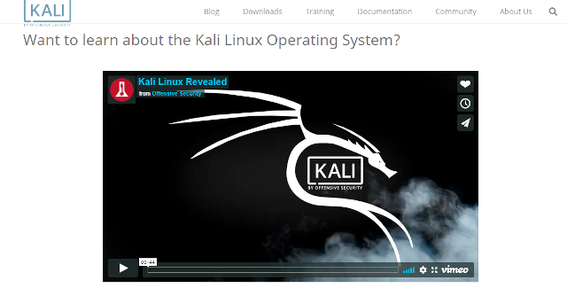 kali linux operating system