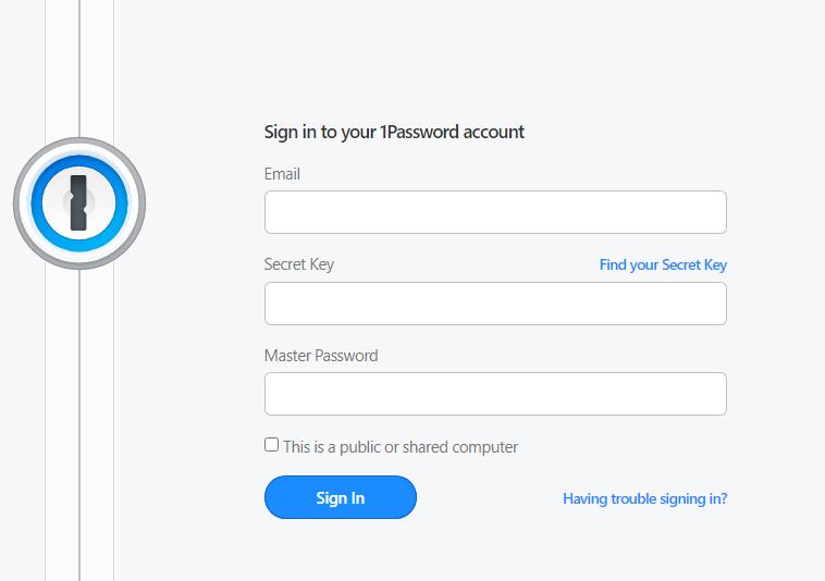 1password account creation process